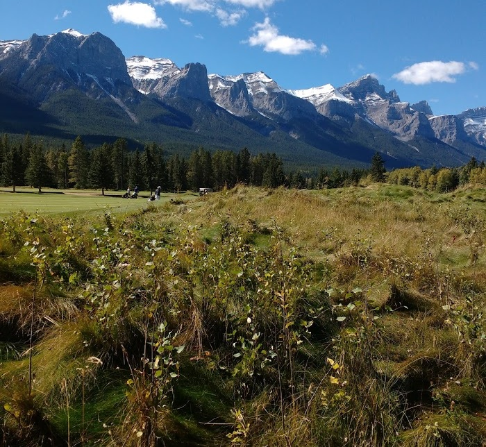 1st hole at Canmore G&CC